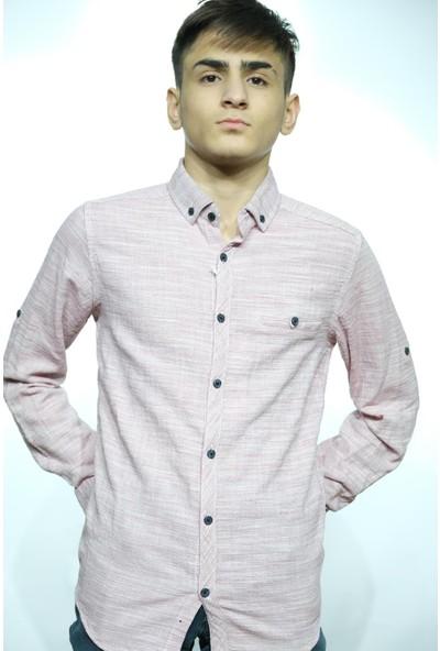 Manche Hasır Keten Gömlek