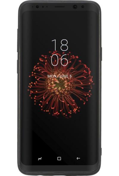 Burkley Samsung Galaxy S9 Plus Mor Deri Arka Telefon Kılıfı Mor