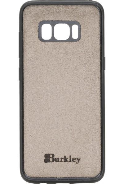 Burkley Samsung Galaxy S8 Plus Açık Pembe Deri Arka Telefon Kılıfı Açık Pembe