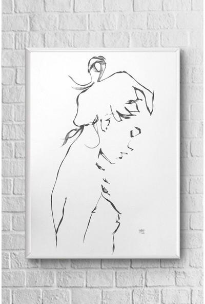 Giyense Beyaz Çerçeveli Dekoratif Tablo