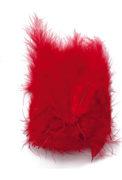 Lora Wedding 15 cm Kırmızı Renk Doğal Tüy (100 Adet)