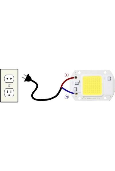 Motorobit Beyaz 220 V Projektör Cob LED 50 W Driver Çipli