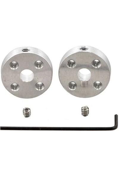 Pololu Dc Motor Üniversal Alüminyum Bağlantı Aparatı Kaplin - 5mm - 4-40 Delikli (2 Adet)