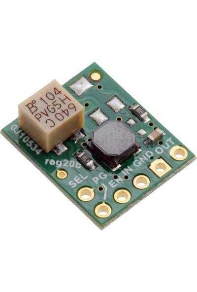 Pololu 5V - 6V Step-Up / Step-Down Voltaj Regülatörü (Ayarlanabilir Düşük Voltaj Kesimi Ile) S9V11F5S6CMA