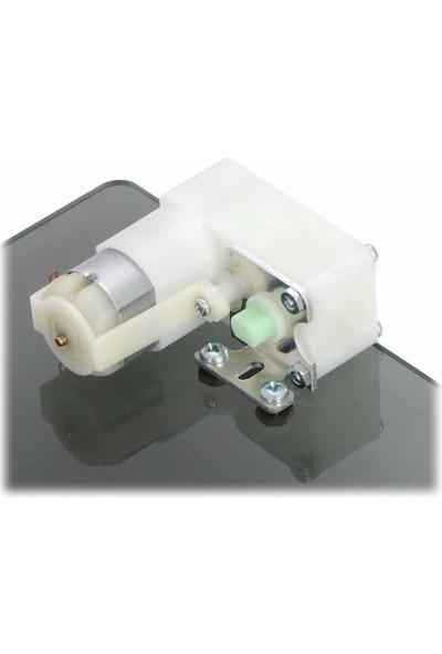 Pololu Redüktörlü Motorlar Için Alüminyum L - Braketi Çifti