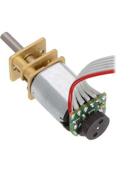 Pololu Hp 6V 590RPM Mikro Metal Redüktörlü Dc Motor Ekstra Şaftlı (50:1)