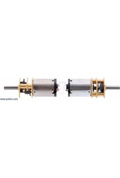 Pololu Hpcb 6V 1100RPM Mikro Metal Redüktörlü Dc Motor Ekstra Şaftlı (30:1)