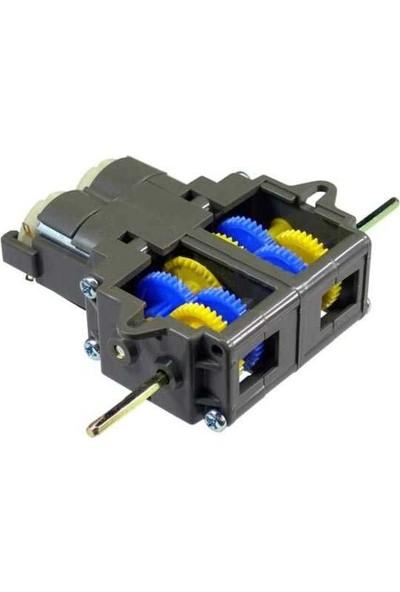Pololu Tamiya 70168 Double Gearbox Kit - Çift Dc Motorlu Dişli Kutusu