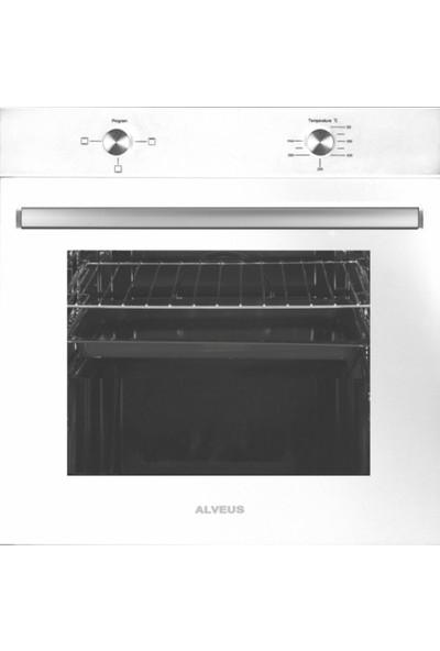 Alveus Akasya 2'li Beyaz Ankastre Set (GLS640 - MFA604)