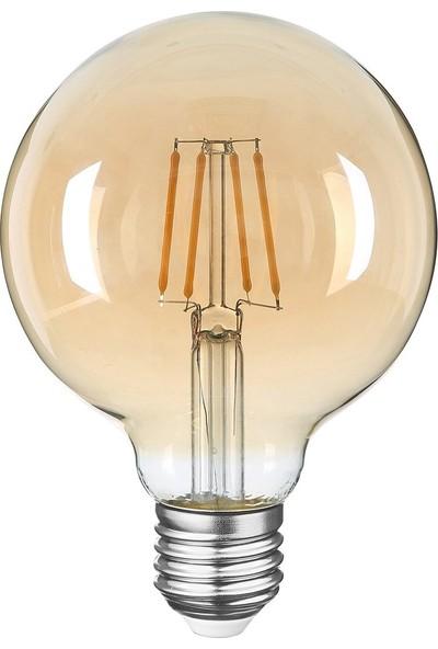 Heka Rustik Filament LED Ampul Gün Işığı G95 6W 2500K E27