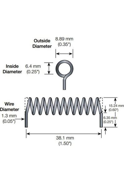 Linx 418MHZ~458MHZ Spiral Rf Anten 1.9dbi 8.89MM
