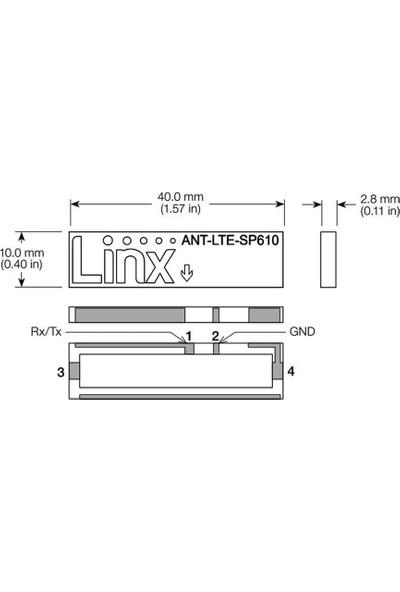 Linx 698MHZ-2.69GHZ Rf Anten 2.8mm