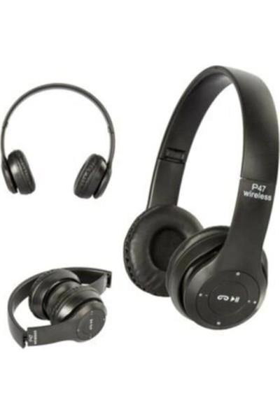 Blupple P47 Bluetooth Extra Bass Radyolu Katlanabilir Kulaklık Siyah
