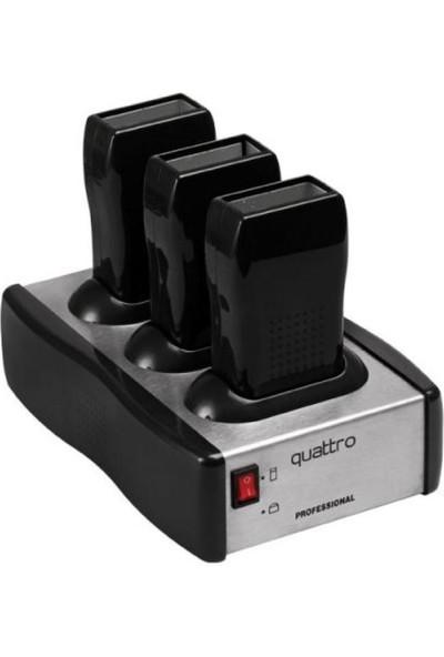 Quattro 3'lü Kartuş Ağda Eritme Makinesi Profesional