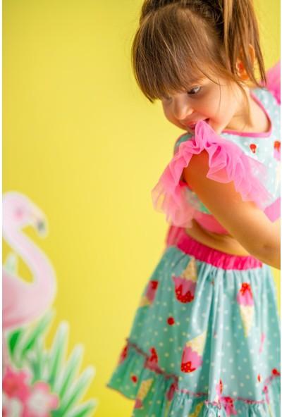 Pixy Love Turkuaz Kız Çocuk Takım Ruby Ice Cream