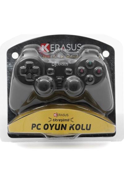 Kerasus KR-2834 Kablolu Titreşimli Oyuncu Bilgisayar Pc Oyun Kolu Gamepad Joystick Laptop Uyumlu