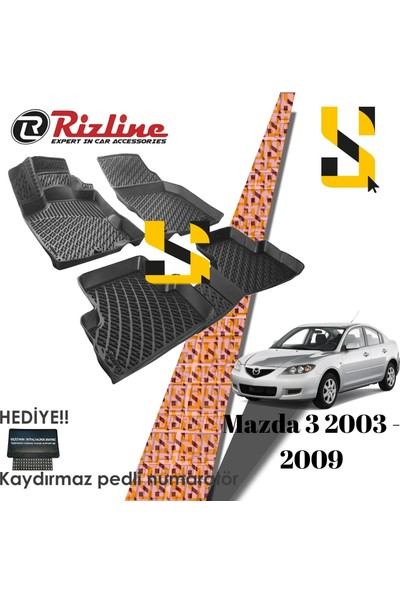 Rizline Us Rizline Mazda 3 2003- 2009 3D Havuzlu Paspas