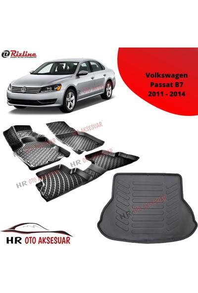 Rizline Hroto Rizline Volkswagen Passat B7 2011-2014 3D Havuzlu Paspas + Bagaj Havuzu