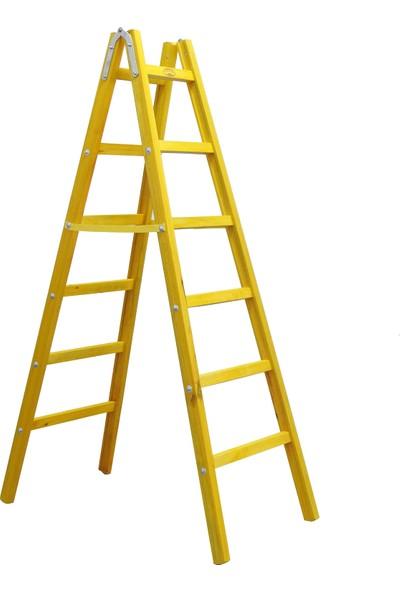 Weblonya Ahşap Merdiven 6 Basamaklı