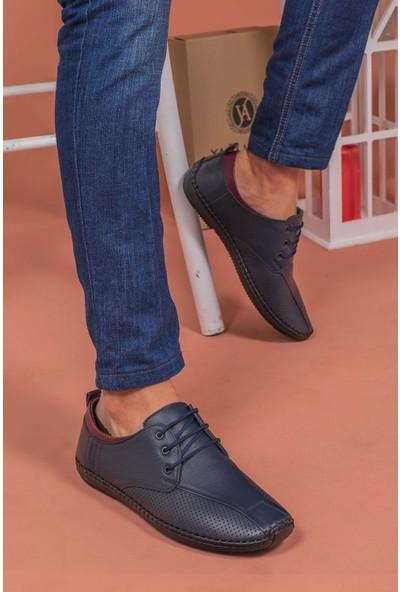 Yağlıoğlu Kunduraerkek Lacivert Hakiki Deri Topuk Jelli Günlük Ayakkabı YGL505