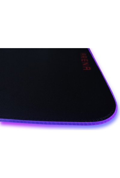 Voll Arena Rgb 800 x 300 mm Oyuncu Mousepad Siyah