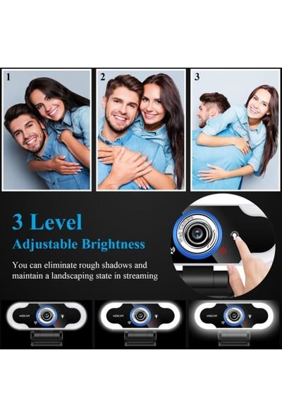 Sezy B12 Oto Focus 1080P Full Hd USB Mikrofonlu Webcam Masaüstü Kamera