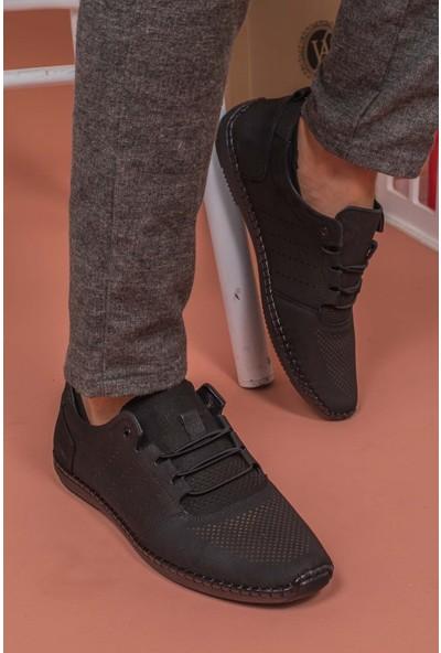 Yağlıoğlu Kunduraerkek Siyah Hakiki Deri Topuk Jelli Günlük Ayakkabı YGL504