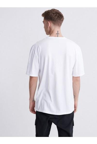 Superdry Outletbul Superdry %100 Pamuk Basic Beyaz Tshirt