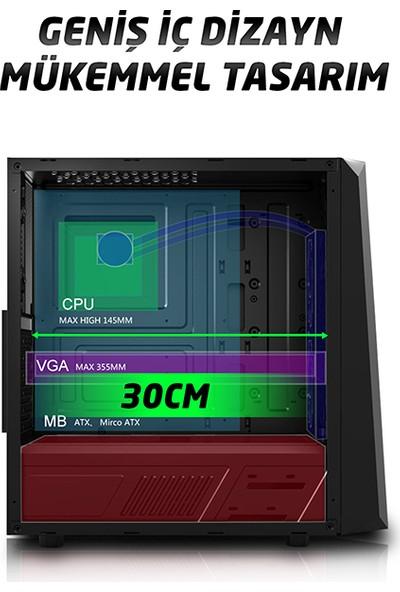 Everest X-Mesh 600W 80+ Plus 4 Rainbow Fan USB 3.0 Oyuncu Kasası