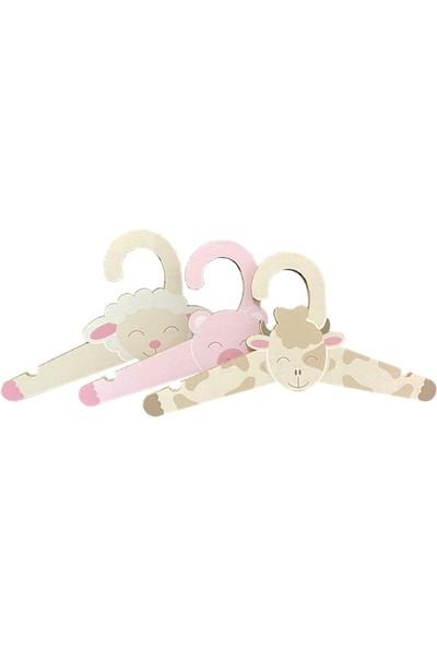 Prigo Karton Çocuk Askısı Seti Kuzu Inek Domuz