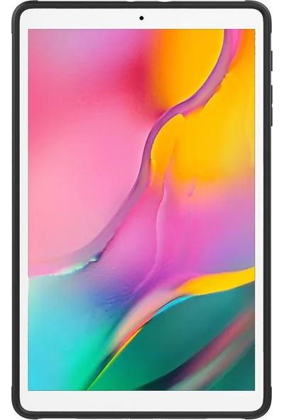 Samsung Galaxy Tab A 10.1 2019 Kılıf T510 Standlı Tablet Kılıfı Zırh Tam Koruma Gri