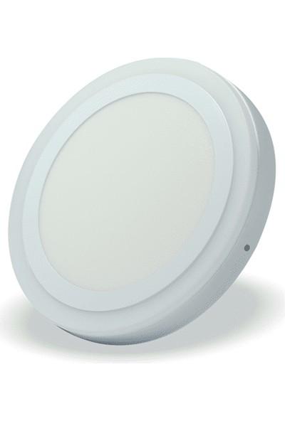 Order-Go 36 Watt (24+12) Sıva Üstü Çift Renkli LED Panel - Mavi Beyaz -32CM 6500K - Beyaz