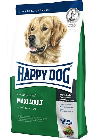 Happy Dog Supreme Fit & Well Adult Maxi Yetişkin Köpek Maması 4 kg 2'li Set Idili