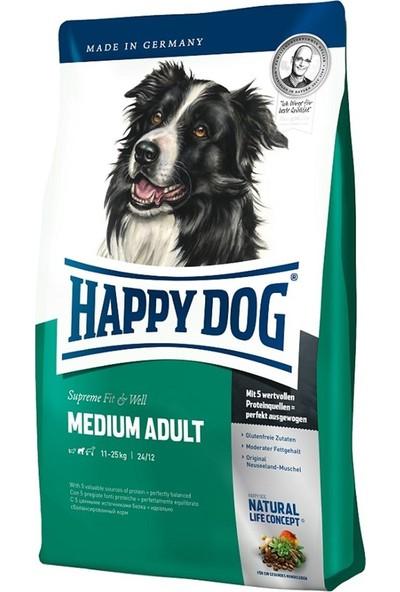 Happy Dog Medium Orta Irk Yetişkin Köpek Maması 4 kg 2'li Set Idili