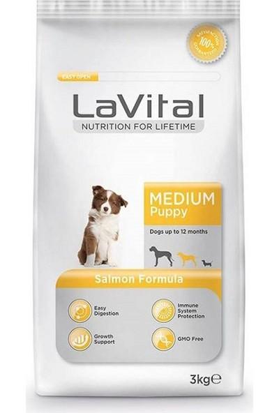 La Vital Medium Salmon Somonlu Orta Irk Yetişkin Köpek Maması 3 kg 5'li Set Idili