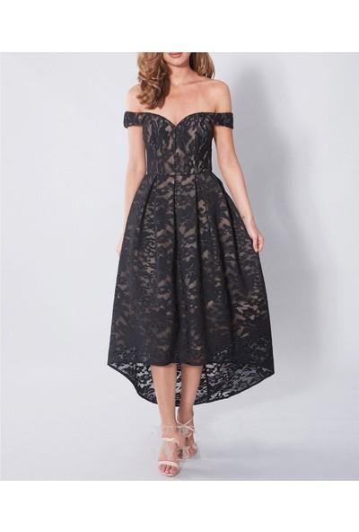 Banuhan Midiboy Güpür Elbise
