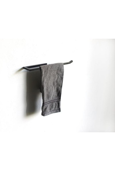 Abronya Metal Havluluk Metal Banyo Aksesuarları Havlu Standı 1 Adet Siyah