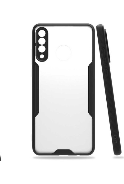 Huawei P30 Lite Kılıf Lens Korumalı Hibrit Ince Silikon Kapak