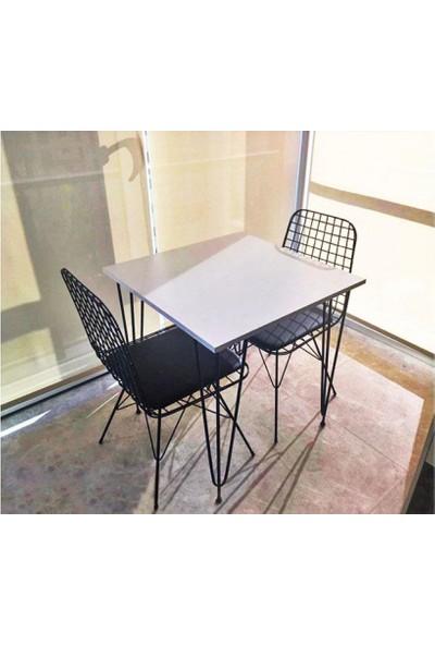 Heka Home Beyaz Masa Takımı-1