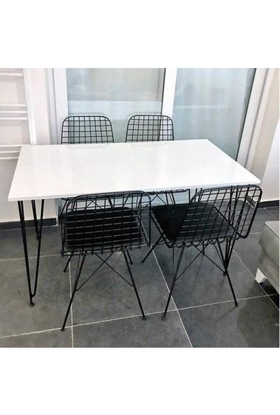 Heka Home Beyaz Masa Takımı-3