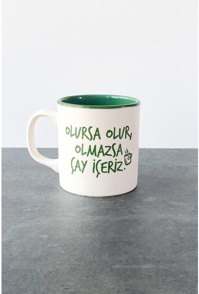 Refikadan Olmazsa Çay Içeriz Mat Kupa Yeşil