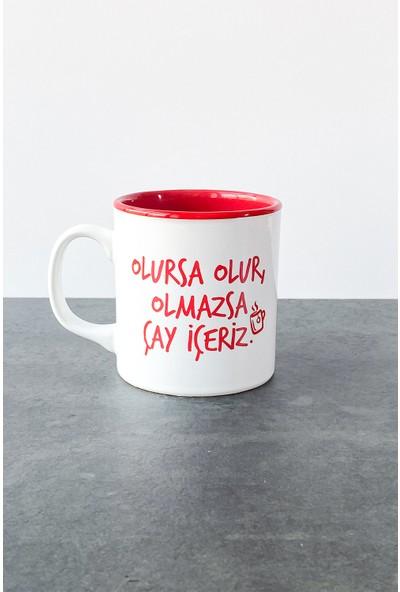Refikadan Olmazsa Çay Içeriz Kupa Kırmızı