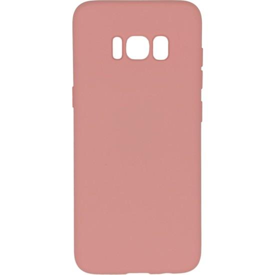 Merwish Case Samsung S8 Içi Kadife Soft Lansman Silikon Kılıf Pembe