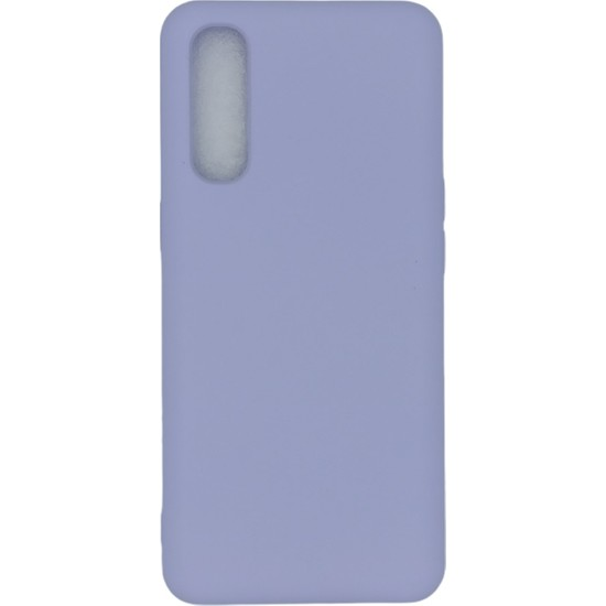 Merwish Case Oppo Reno 3 Pro Içi Kadife Soft Lansman Silikon Kılıf Lila