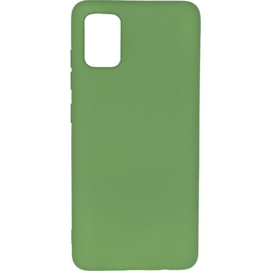 Merwish Case Samsung A51 Içi Kadife Soft Lansman Silikon Kılıf Yeşil