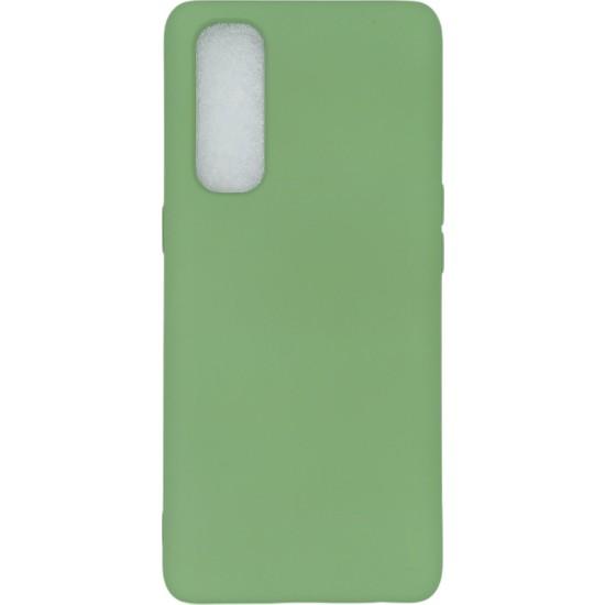 Merwish Case Oppo Reno 4 Pro Içi Kadife Soft Lansman Silikon Kılıf Yeşil
