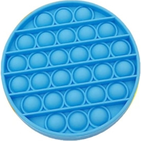 Toys Pop It Push Bubble Fidget Popit Duyusal Stres Oyuncak Mavi Yuvarlak