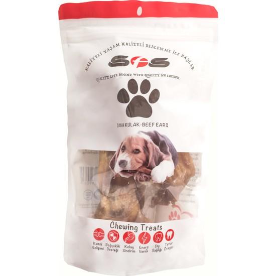 Sfs Köpek Maması Dana Kulak Naturel Yetişkin Köpek Maması 100 gr 2 Adet