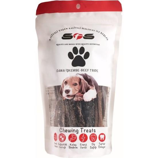 Sfs Köpek Maması Dana İşkembe Paket İçeriği 100Gr %100 Doğal Çiğneme Ürünü