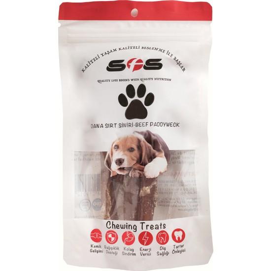 Sfs Köpek Maması Dana Sırt Siniri Paket İçeriği 100Gr %100 Doğal Çiğneme Ürünü